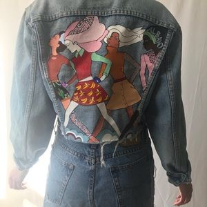 Jackets & Blazers - Hand painted Levi's jacket